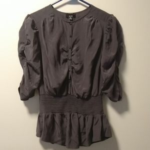 🍀⚡🍀 Jacob 100% silk dress shirt size L